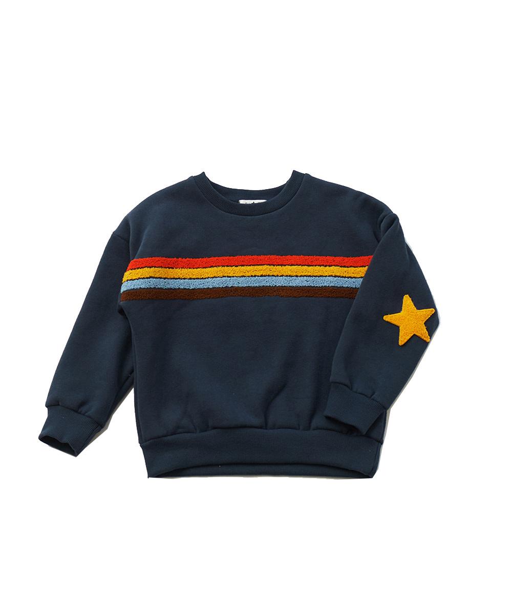 PETITE HAILEY Rainbow Star Sweatshirt