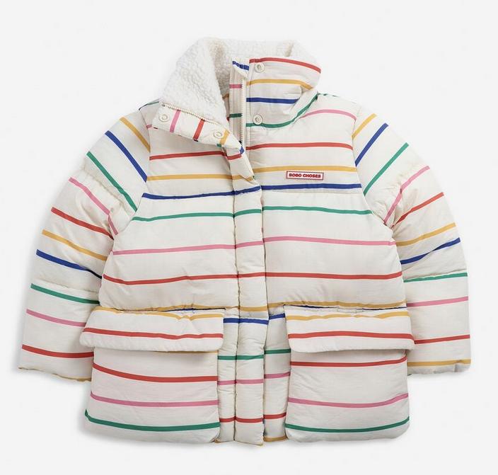 BOBO CHOSES Stripes Padded Jacket