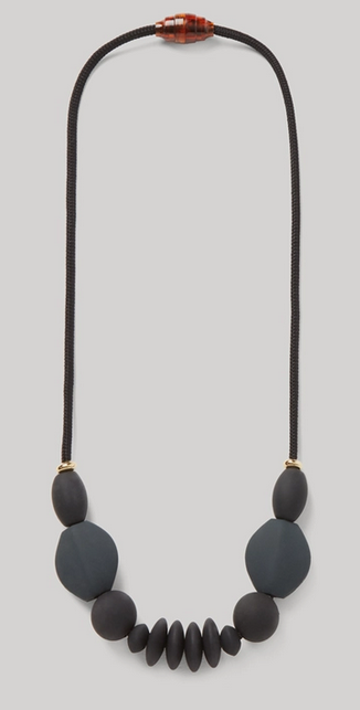 JANUARY MOON Charcoal Signature Necklace