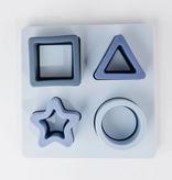 THREE HEARTS Silicone Shape Puzzle - Blue