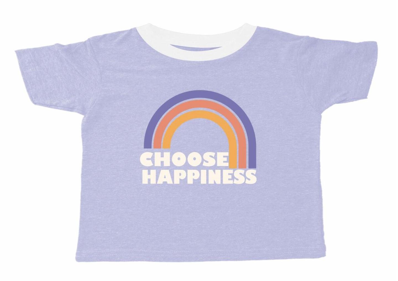TINY WHALES Choose Happiness Boxy Tee