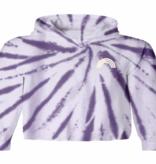 TINY WHALES Purple Skies Hooded Long Sleeve Tee