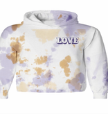 TINY WHALES Peace And Love Hooded Long Sleeve Tee