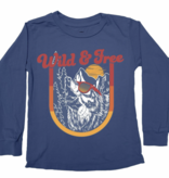 TINY WHALES Wild And Free Long Sleeve Tee