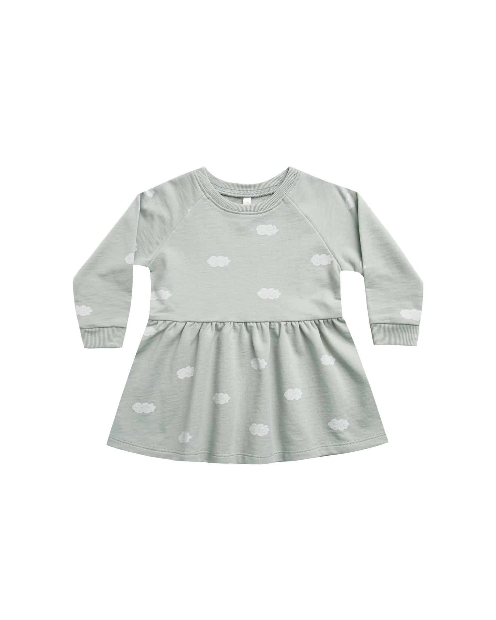 RYLEE AND CRU Clouds Longsleeve Raglan Dress