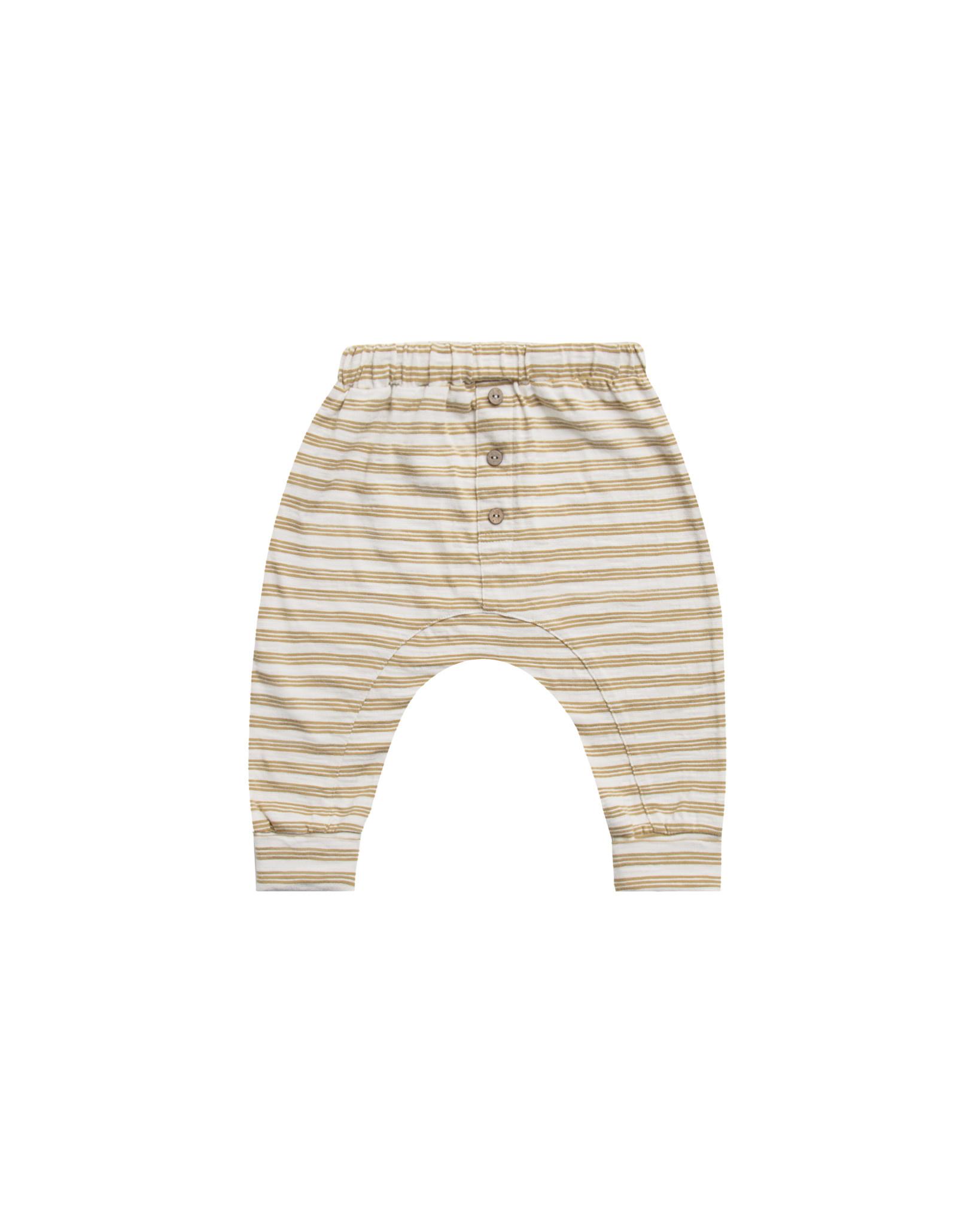 RYLEE AND CRU Gold Stripe Baby Cru Pant