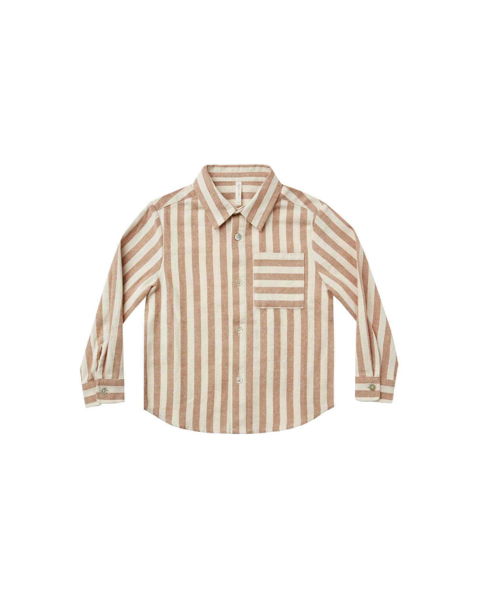 RYLEE AND CRU Retro Stripe Collared Shirt