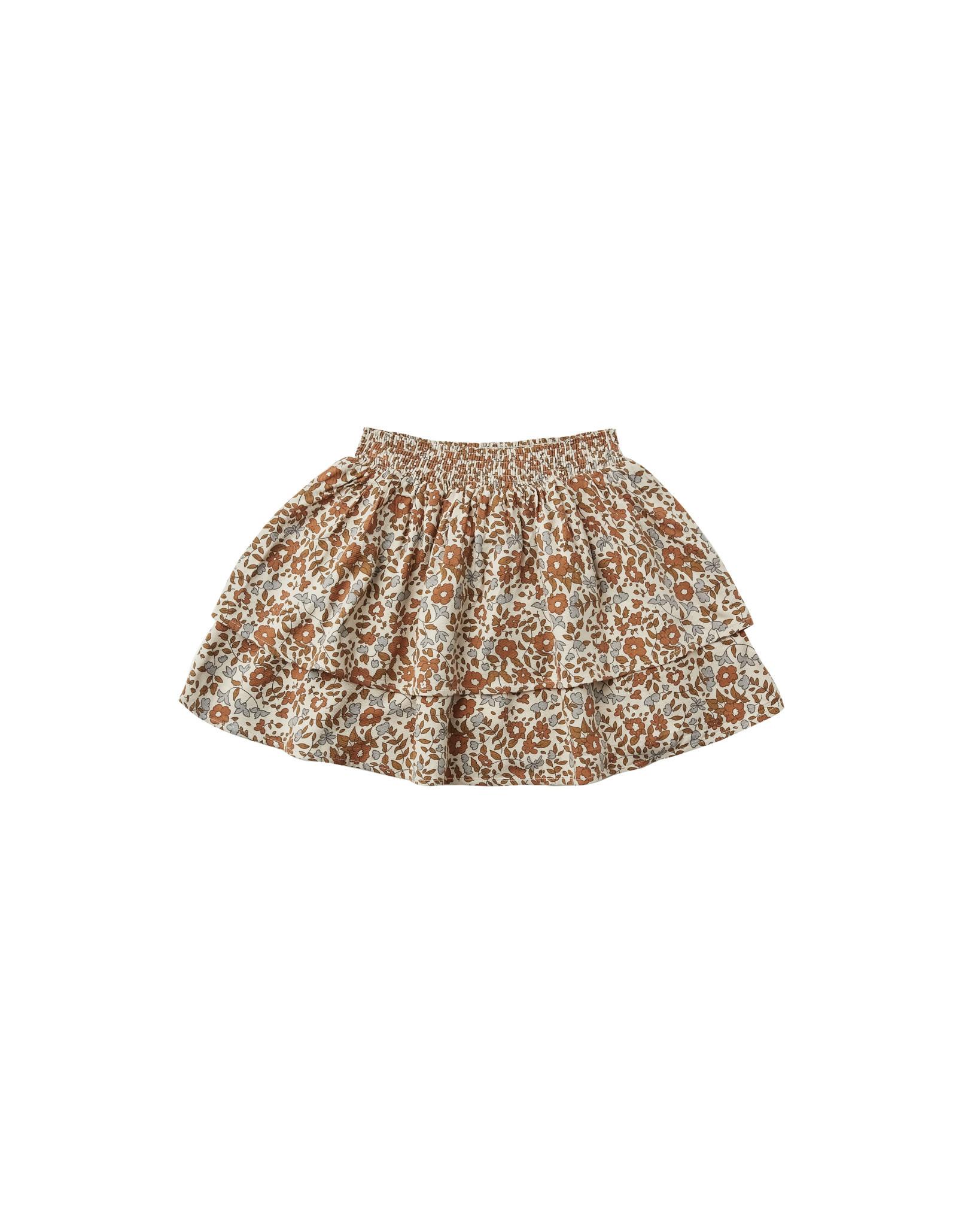 RYLEE AND CRU Bloom Tiered Mini Skirt
