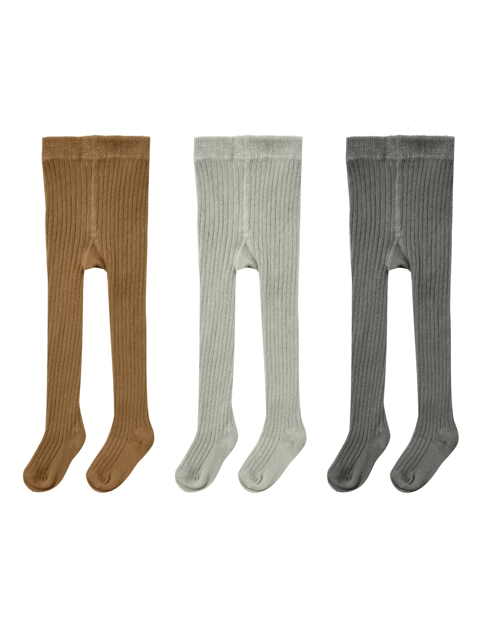 RYLEE AND CRU Solid Ribbed Tights - 3 Pack