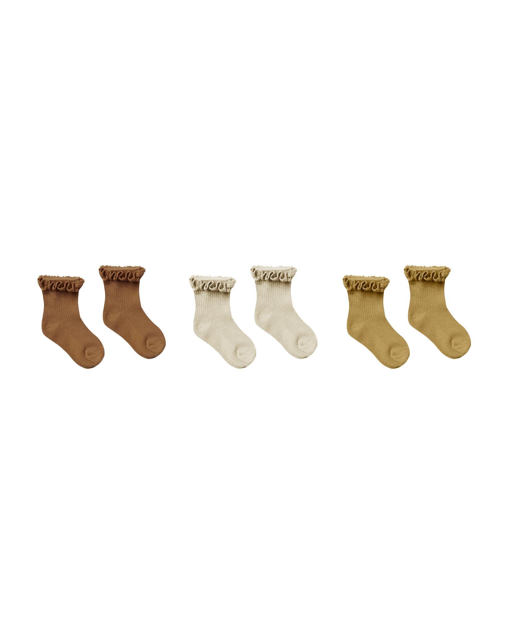 RYLEE AND CRU Ruffle Socks - 3 Pack