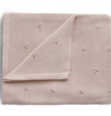 MUSHIE Knitted Pointelle Baby Blanket - Blush
