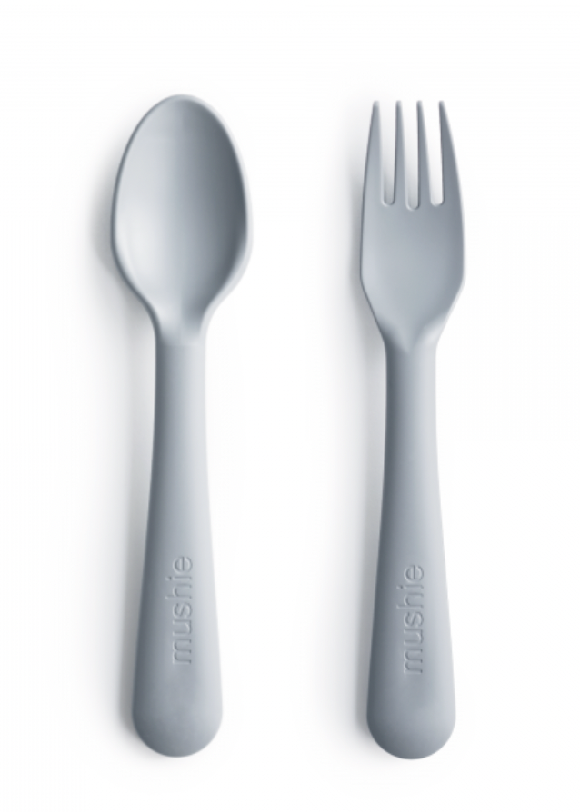 MUSHIE Fork And Spoon Set - Cloud