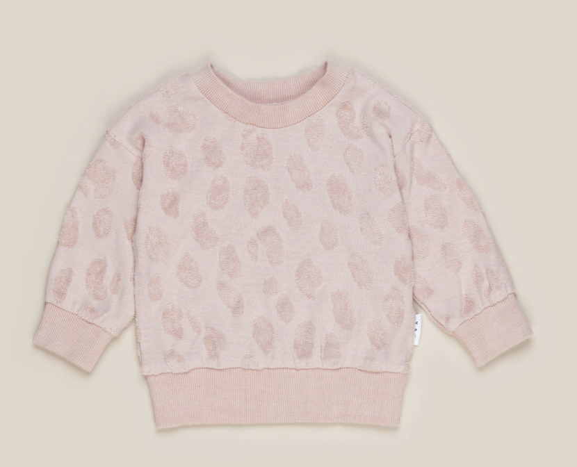 HUX BABY Rose Animal Play Sweatshirt