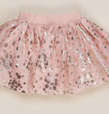 HUX BABY Gold Floral Tulle Skirt