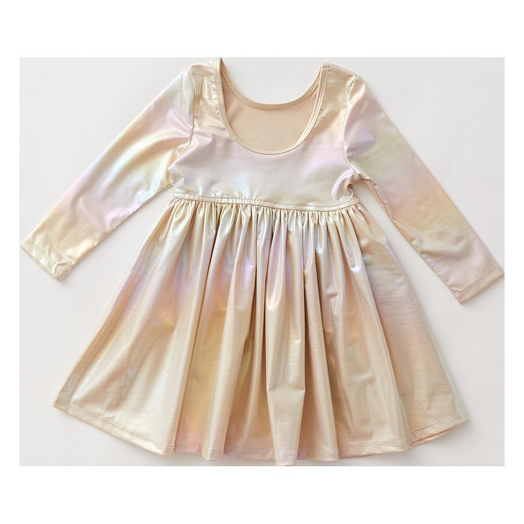 PINK CHICKEN Liza Lame' Dress