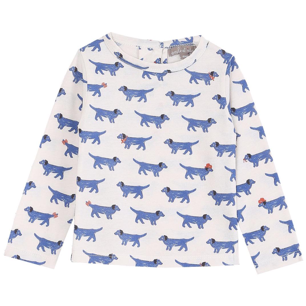 EMILIE ET IDA All Over Chien Tee Shirt