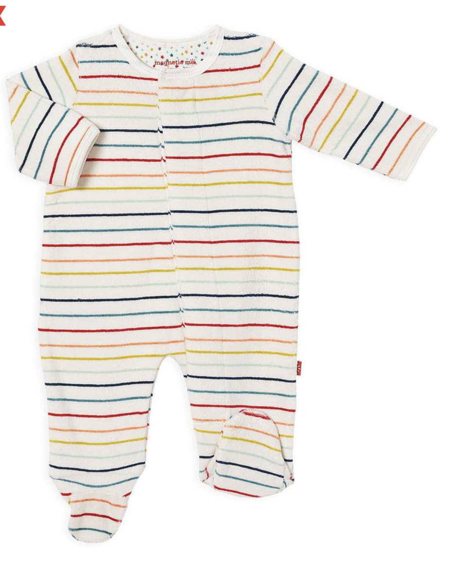 MAGNIFICENT BABY Velour Magnetic Footie
