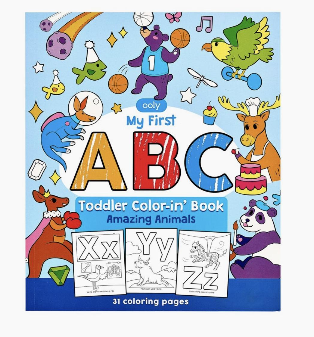 ABC: Amazing Animals Coloring Book