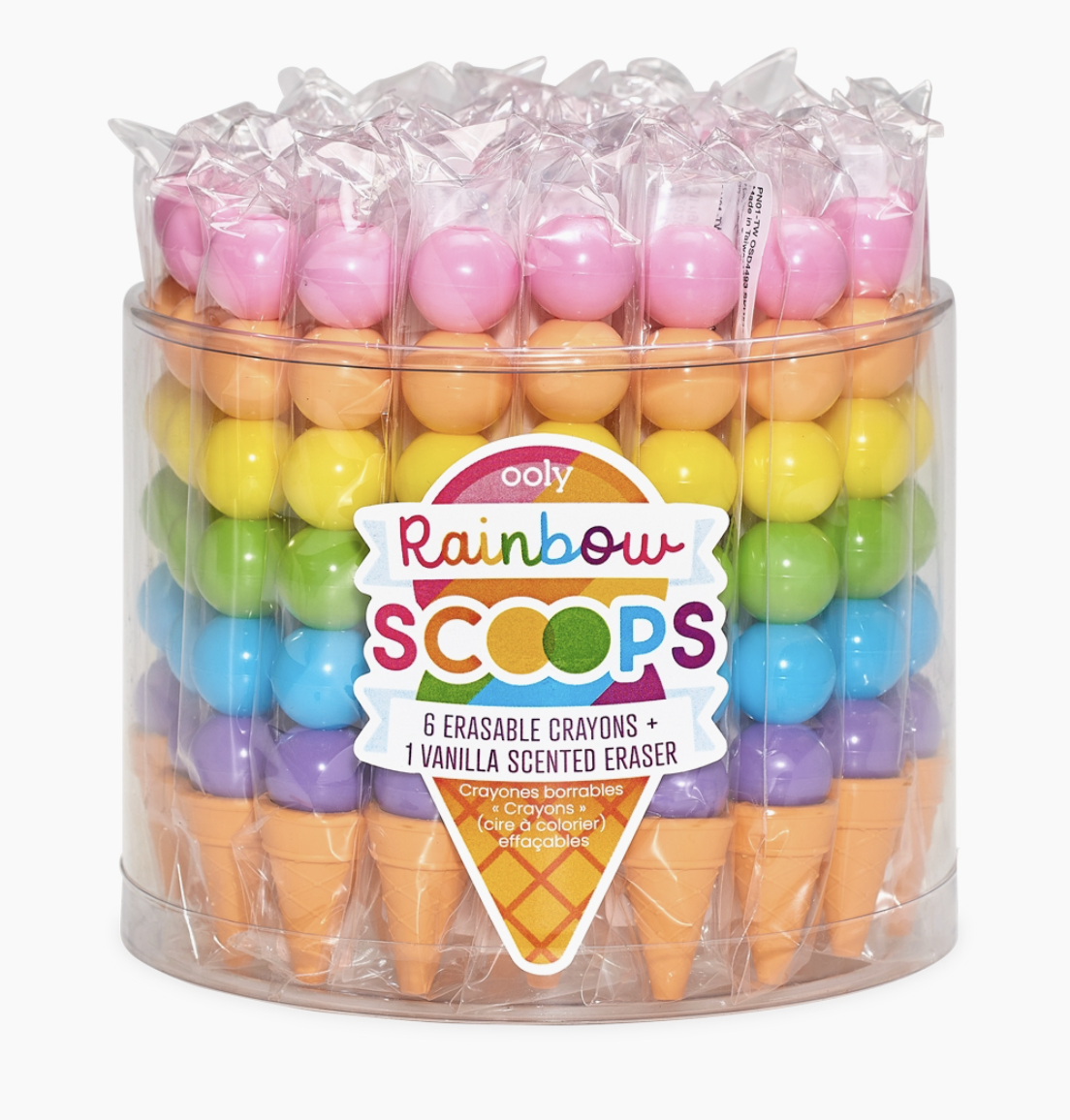 Rainbow Scented Stacking Erasable Crayons