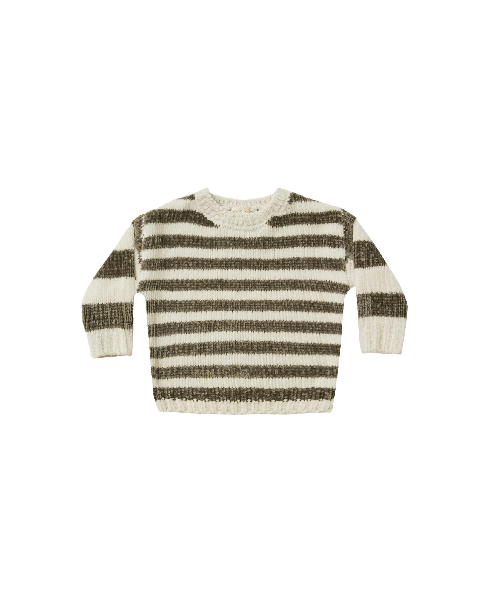 RYLEE AND CRU Stripe Chenille Sweater