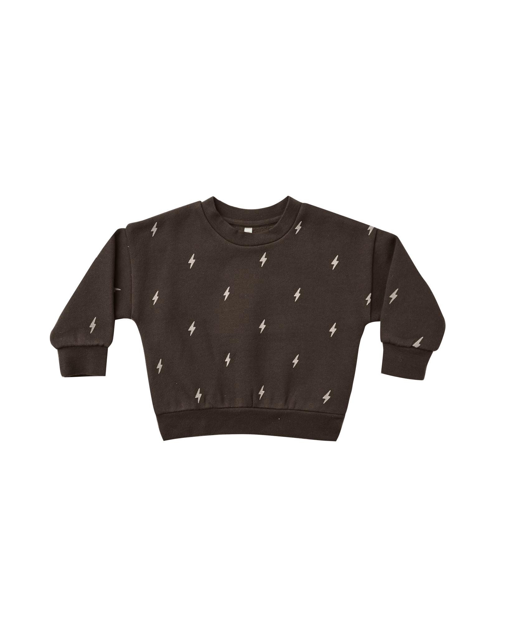 RYLEE AND CRU Lightening Bolts Fleece Sweatshirt