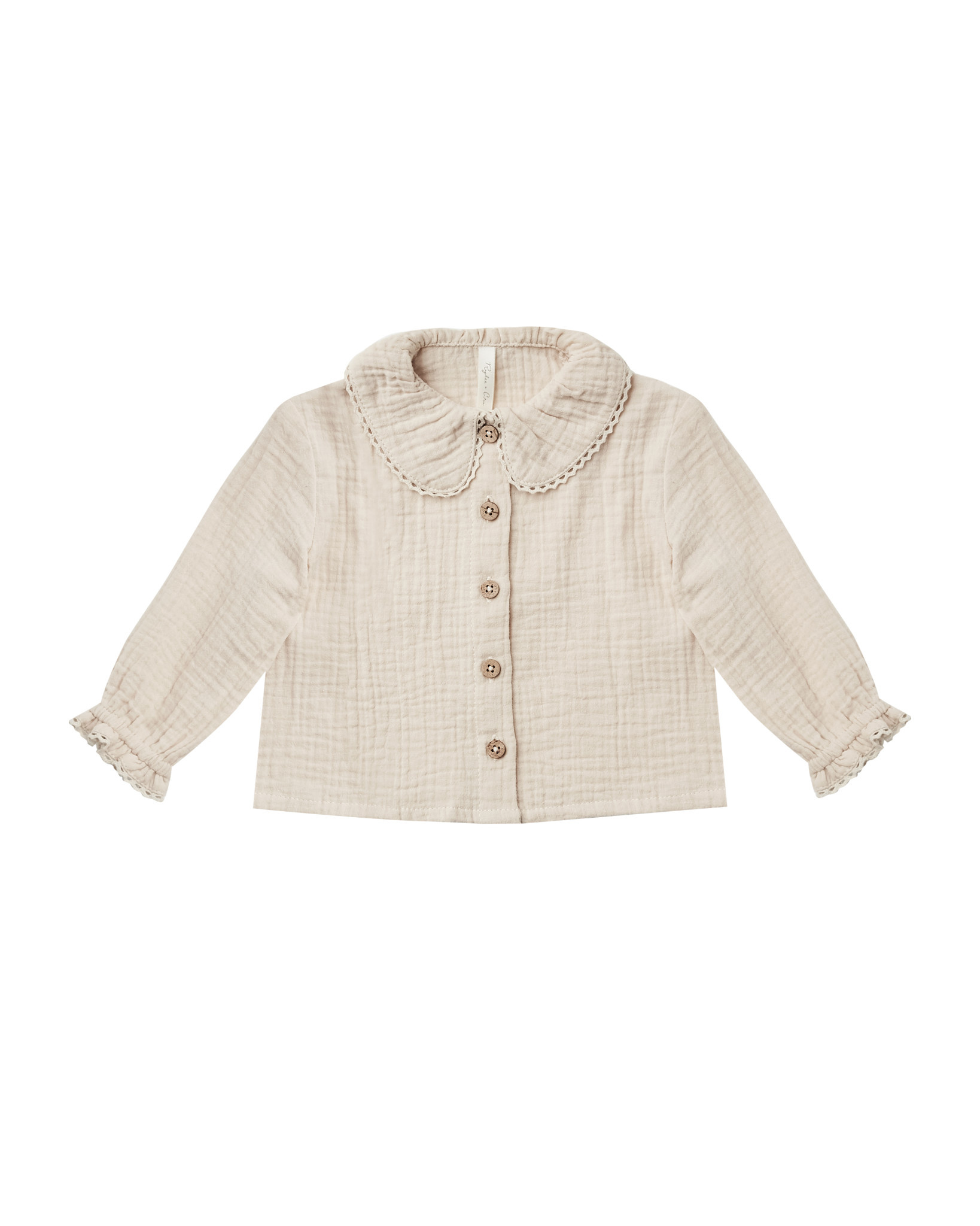 RYLEE AND CRU Oversized Collar Blouse