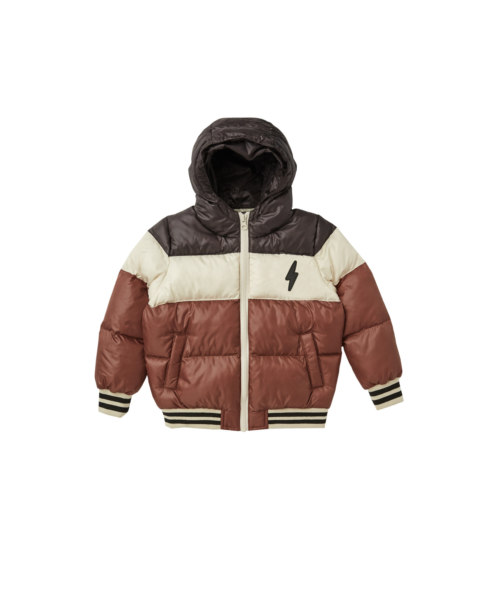 RYLEE AND CRU Color Block Puffer Jacket