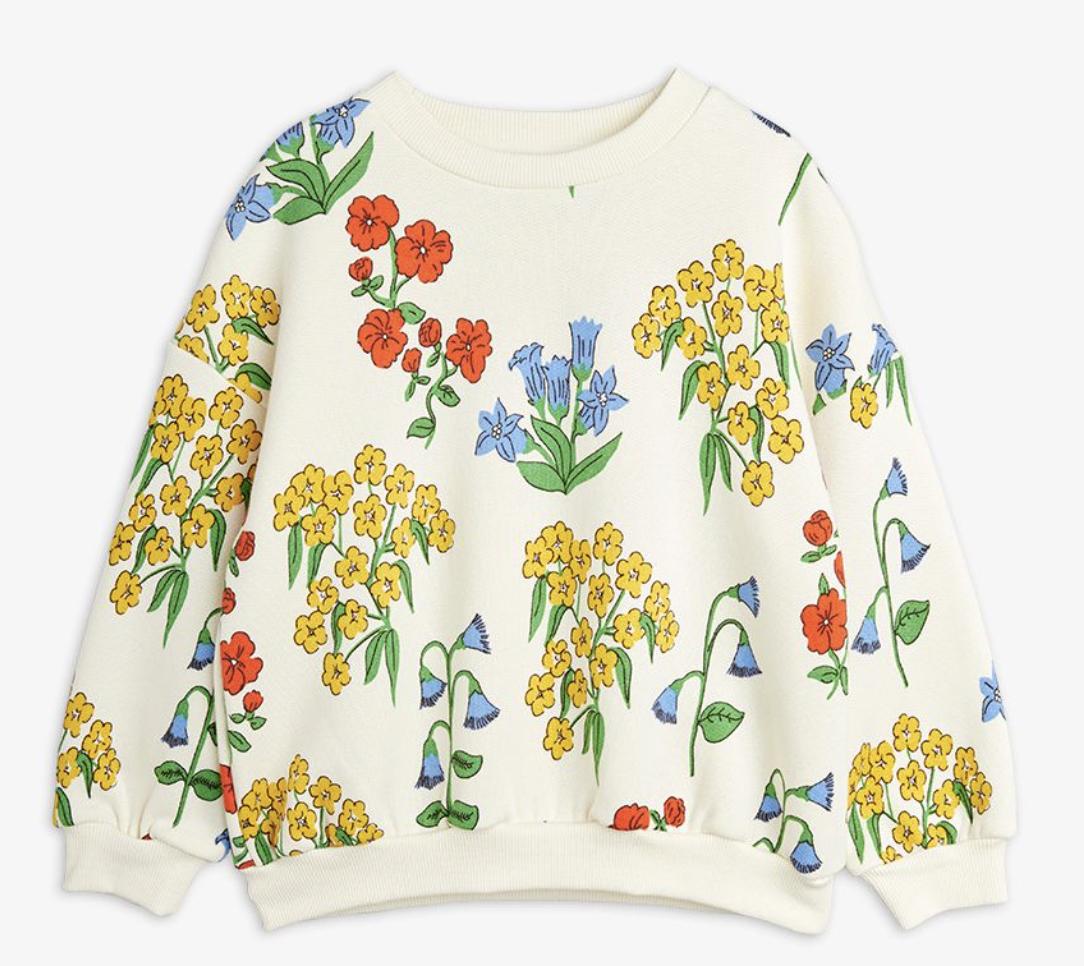 MINI RODINI Snow Flowers Sweatshirt