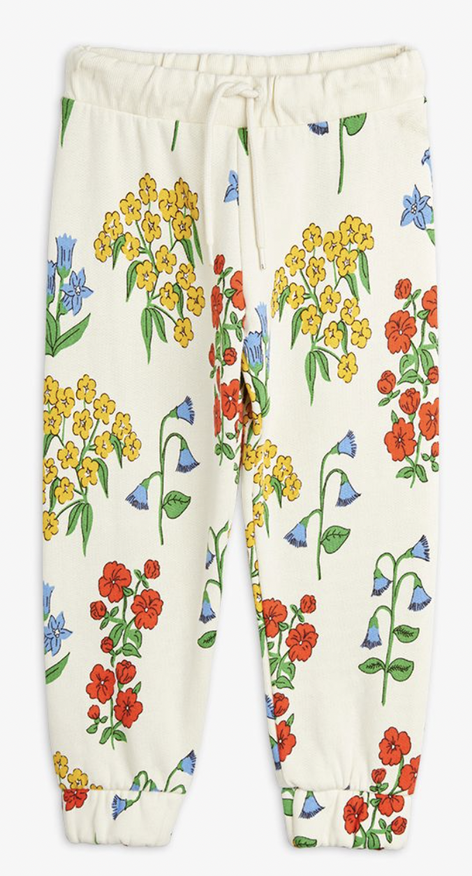 MINI RODINI Snow Flowers Sweatpants