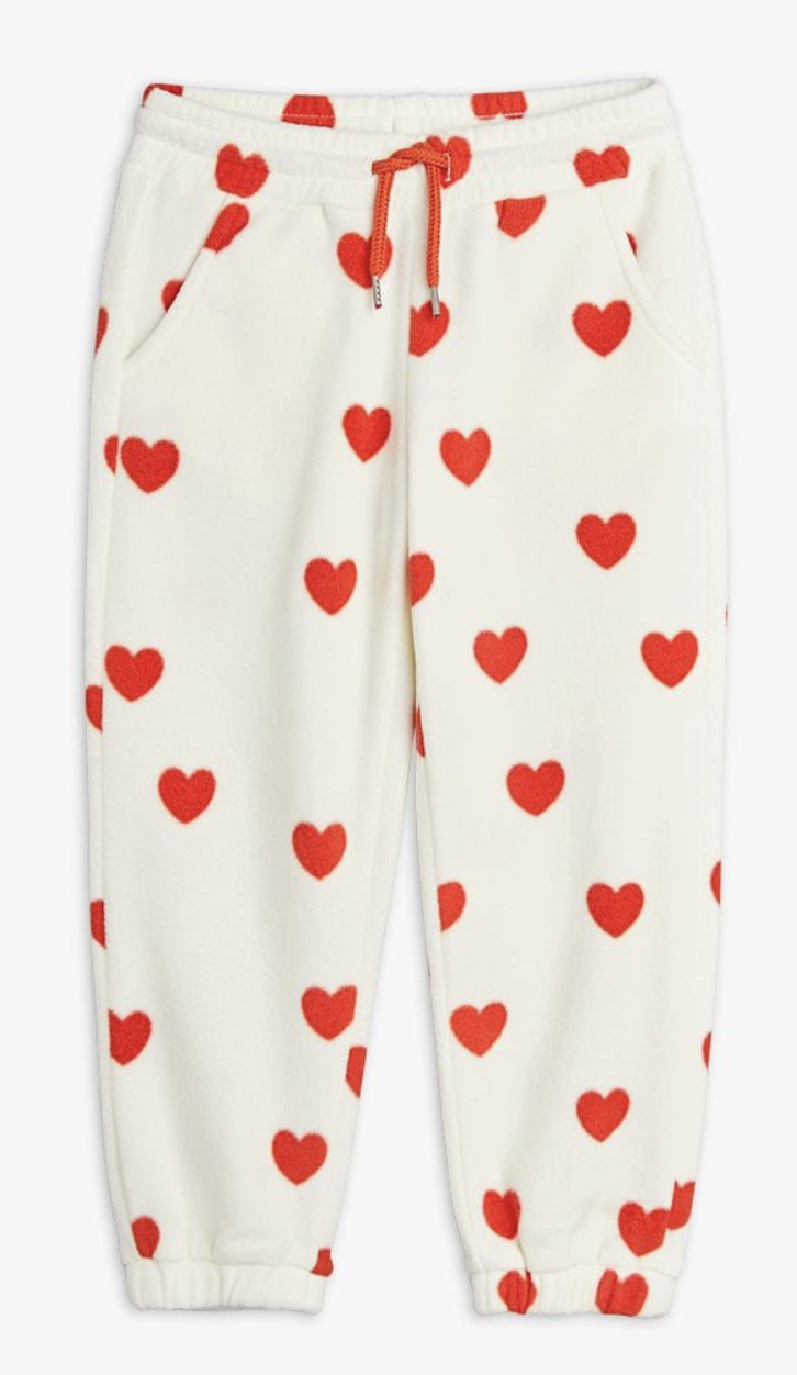 MINI RODINI Hearts Fleece Trousers