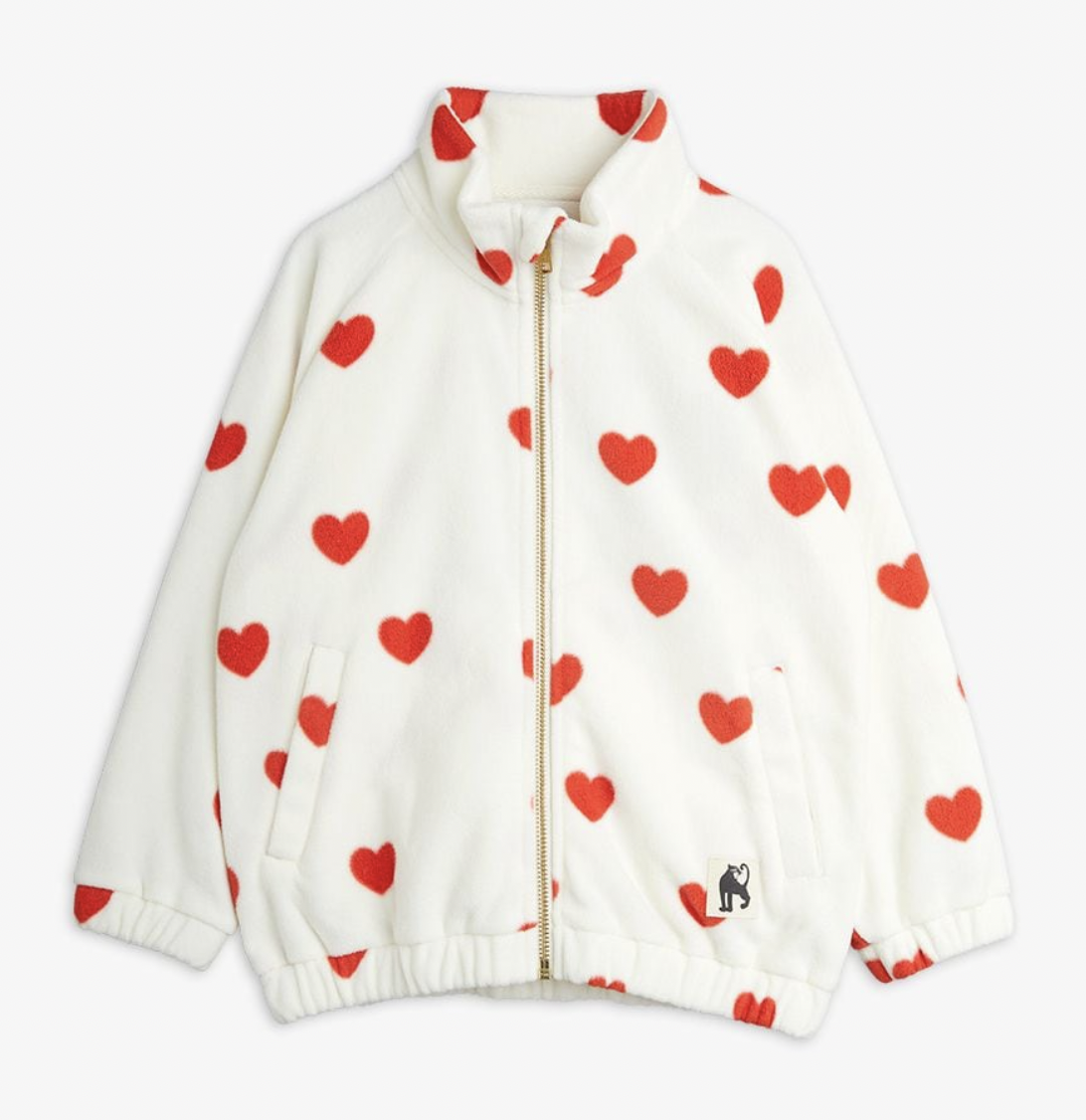 MINI RODINI Hearts Fleece Jacket
