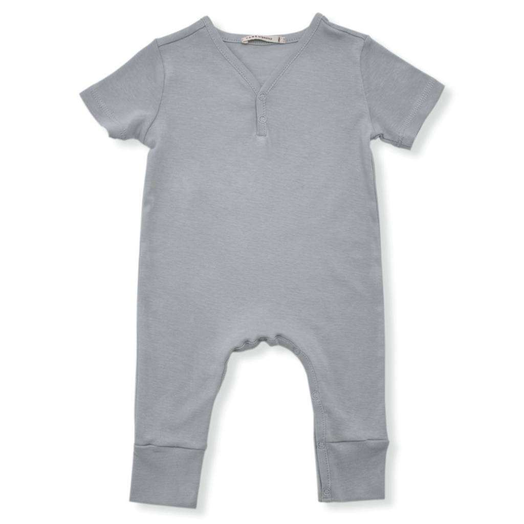 TANE ORGANICS Short Sleeve V Neck Coverall
