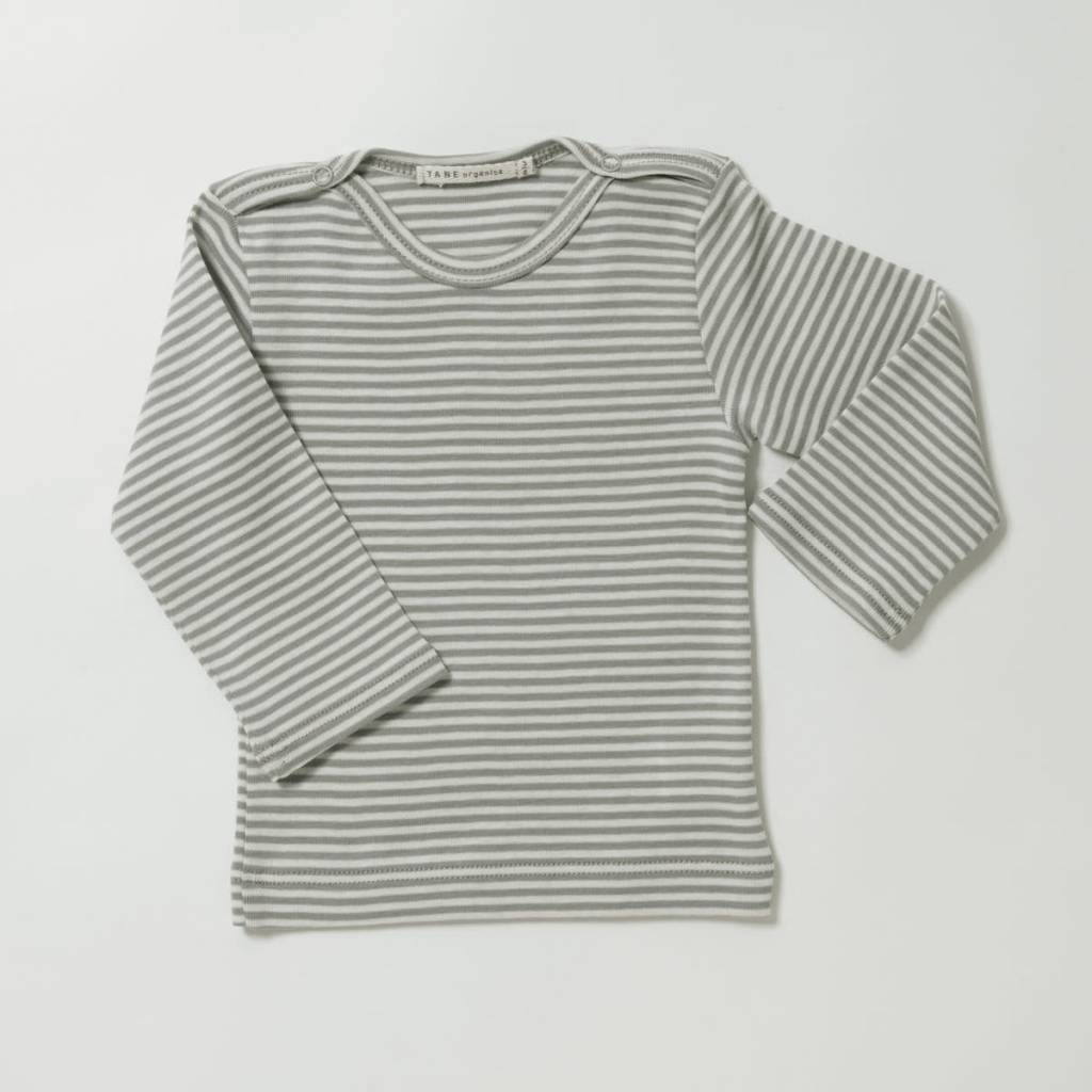 TANE ORGANICS Striped Bateau Neck Top