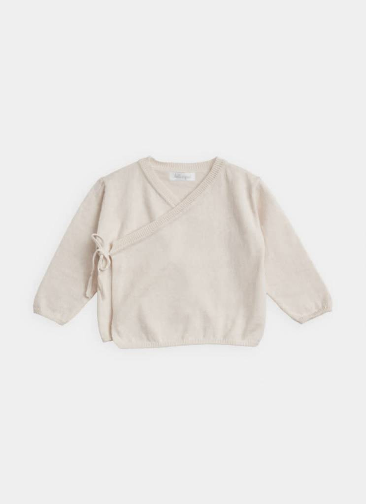 BELLE ENFANT Cotton Wrap Top