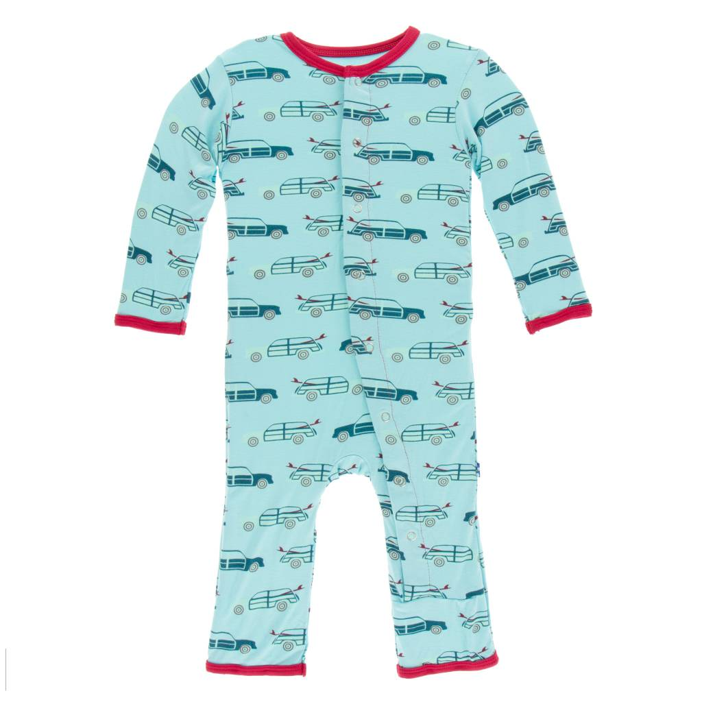 KICKEE PANTS Print Coverall with Snaps