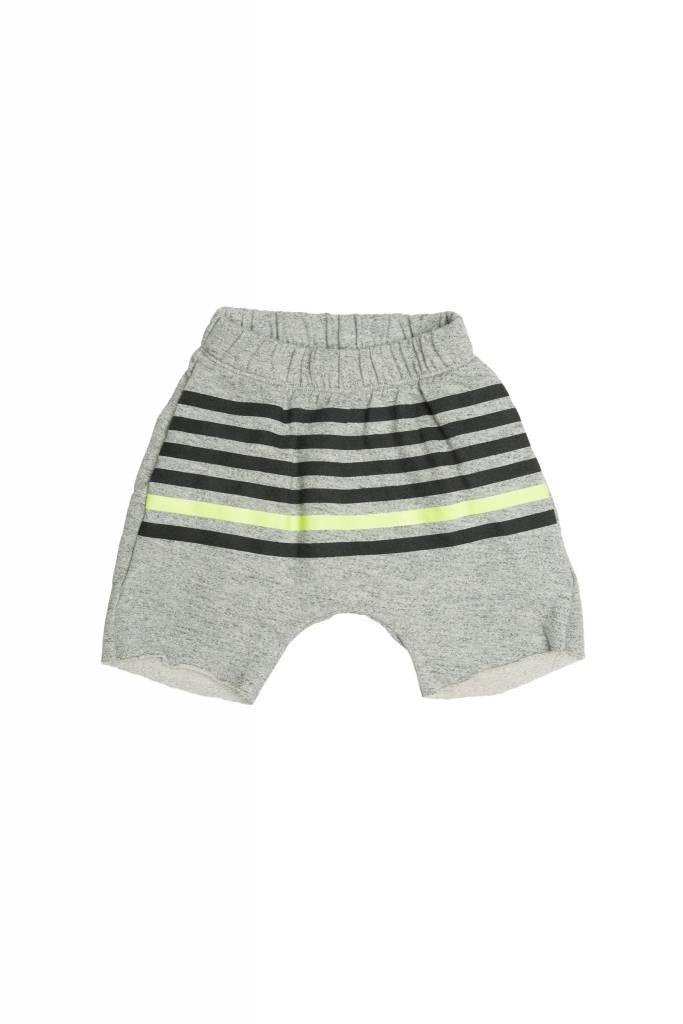 JOAH LOVE Stripe Printed Drop Crotch Shorts