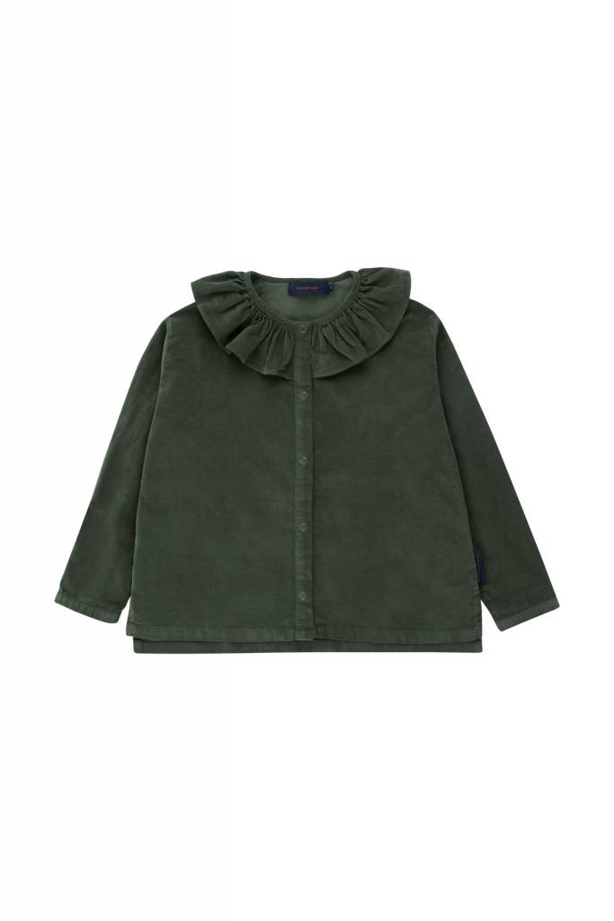 TINY COTTONS Solid Frilled Collar Blouse