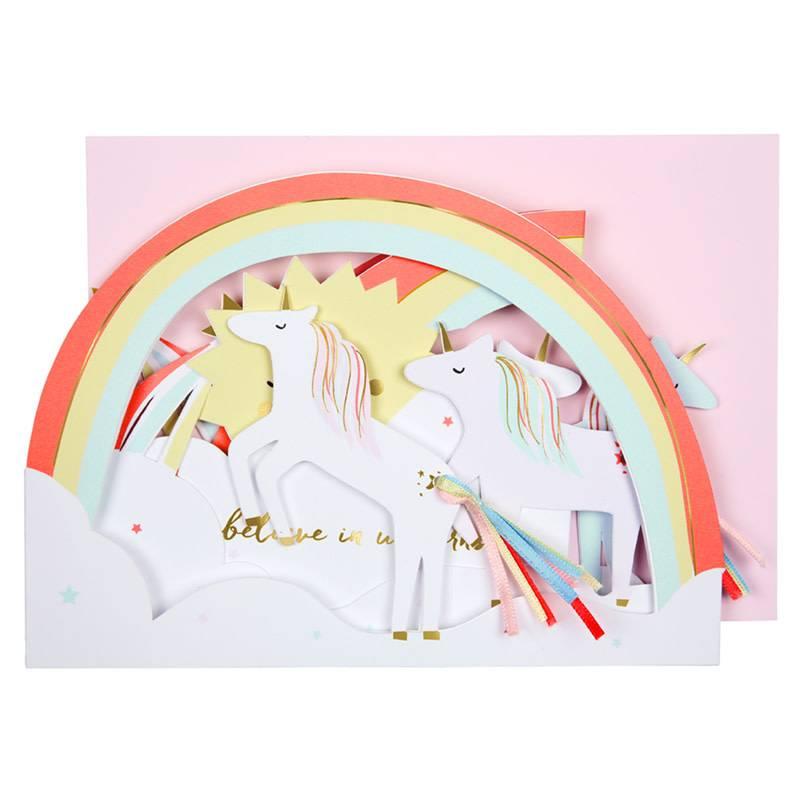 MERI MERI Concertina Unicorn Card