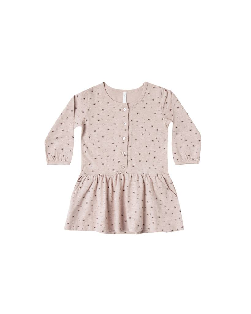 RYLEE AND CRU Baby Mini Stars Button Up Jersey Dress