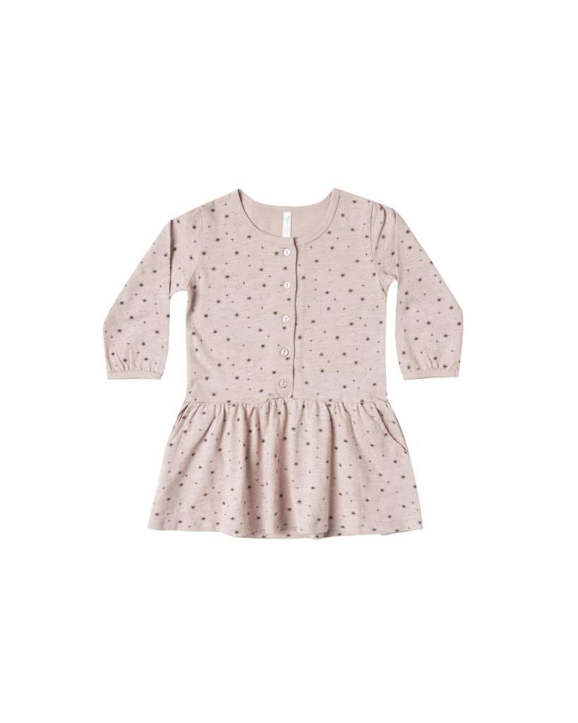 RYLEE AND CRU Mini Stars Button Up Jersey Dress