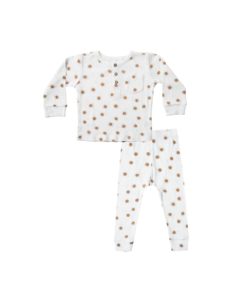 RYLEE AND CRU Sunrise Ribbed Pajama Set