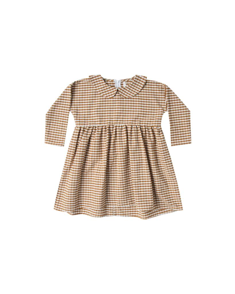 RYLEE AND CRU Gingham Collared Dress