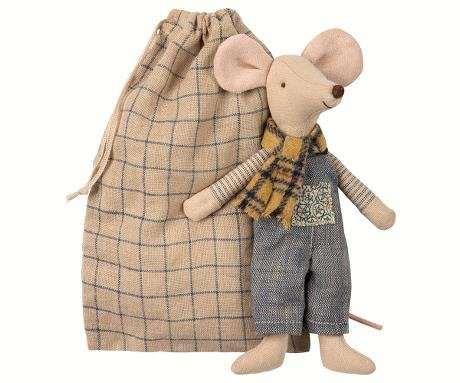 MAILEG Winter Mouse Father in a Bag