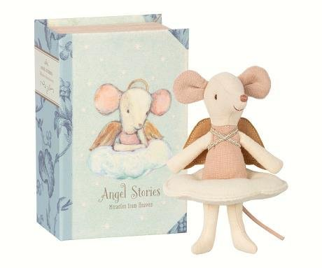 MAILEG Angel Mouse Big Sister in a Book
