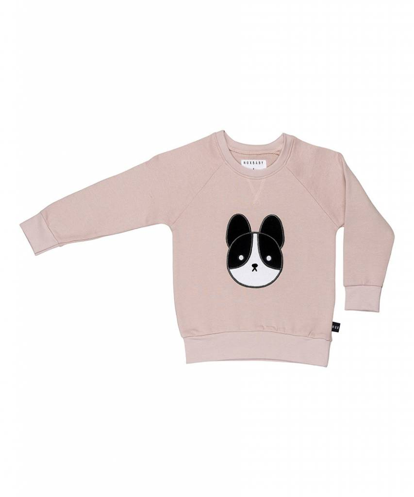 HUX BABY Baby Frenchie Patch Sweatshirt
