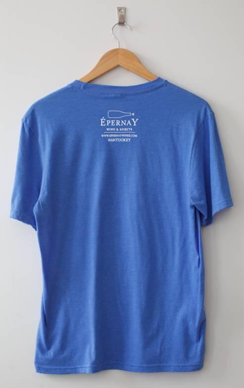 wine. glass Tee Shirt (Blue) Men's