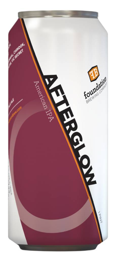 """Foundation Brewing """"Afterglow"""" American IPA Cans 4pk - 16oz"""