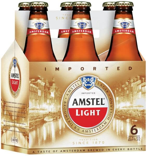 Amstel Light Bottles 6pk - 12oz