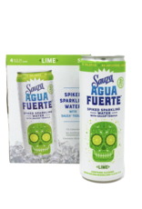 Sauza Agua Fuerte Spiked Lime Sparkling Water 4pk - 355ml