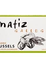 MATIZ Organic Mussels, Tinned in Olive Oil & Vinegar 4 oz